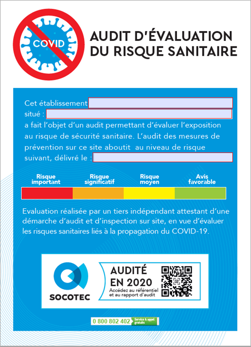 SOCOTEC - BUSINESS READY - Rapport d'audit d'évaluation du risque sanitaire